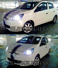 2013 2014 Mitsubishi Mirage 3950K Bright White Head Lamp Replacement Light Bulbs