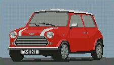 """Classic Mini Cooper Red Cross Stitch Kit 10"""" x 5.7"""""""