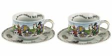 Cardew Alice in Wonderland Tea Party 8oz Round tea cup and saucer set of 2