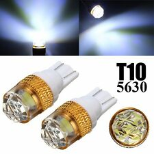 2x T10 501 W5W 5630 LED SMD Coche Bombilla Projector Side Wedge Light Luz 12V