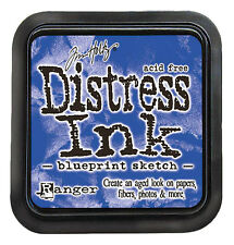 Tim Holtz Distress Ink Pad Full Size  BLUEPRINT SKETCH Blue Sapphire