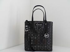 NWT AUTHENTIC MICHAEL KORS HAYLEY MEDIUM FLORAL PERFORATED N/S TOP ZIP TOTE-$268