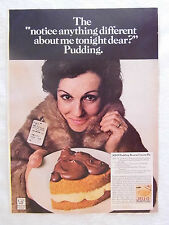 1970 Magazine Advertisement Page Jell-O Pudding & Pie Filling Recipe Vintage Ad