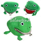1pc Lovely Frog Wallet Anime Cartoon Wallet Coin Purse Manga Flannel Wallet