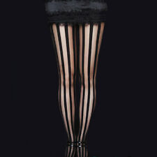RESTYLE BLACK STRIPY STRIPE TIGHTS. TIM BURTON. VICTORIAN GOTHIC FASHION.