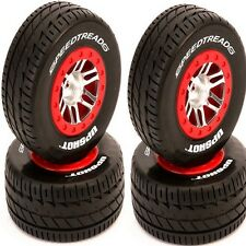 Dynamite DYN5133 SpeedTreads Upshot Mounted Tires / Wheels (4) Slash 4x4 ECX
