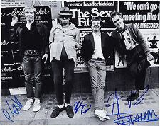 THE SEX PISTOLS SIGNED 10X8 PHOTO GREAT STUDIO IMAGE, LOOKS GREAT FRAMED
