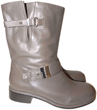 $450 RACHEL ROY Corine Short Motorcycle Boots Leather Bootie 7.5 / 37.5 taupe