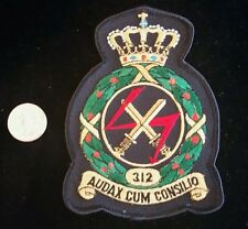 RARE RNLAF Patch 312 Squadron Royal Netherlands Air Force Fighter Bomber Patch