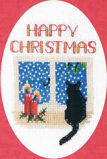 Derwentwater Designs Christmas Card Kit - Christmas Cat