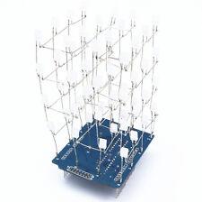 1PCS 4X4X4 Light Cube Kit Arduino shield LED DIY suite Kit Blue