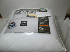New Biddeford Full Quilted Heated Mattress Pad  - 10 Hour Auto Shut Off - White