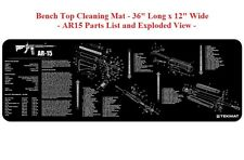 TekMat Gun Long Gun Cleaning Mat  #36AR15BK - BLACK - Rubber Backed - 12W x 36L