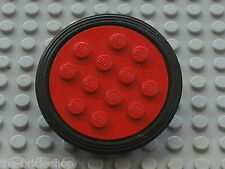 LEGO VINTAGE wheel old 12 studs ref 715 + tyre ref 36 / Set 378 100 ...etc