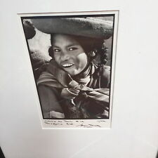 "TODD BLACK ""CARAS DE PERU"" BLACK AND WHITE ORIGINAL PHOTO #3/8 FRAMED 21"" X 17"""