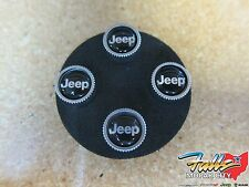 Mopar Jeep Silver and Black Tire Valve Stem Cap Covers With JEEP Logo Mopar OEM