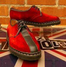 Vintage Red Velvet Tredair Mod shoes UK 8 Martens Oi! Punk Skin Rockabilly New