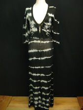 ODD MOLLY Almost Black Egils Crochet Embroidered Tie Dyed Maxi Dress Size 3 $368