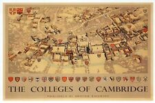 Colleges of Cambridge, England, British Railways Poster Image -- Modern Postcard