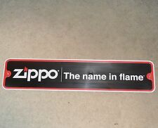 Zippo Lighter Metal Street Sign