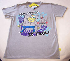 SpongeBob Patrick Keepin It Real Mens Grey Printed T Shirt Size S New