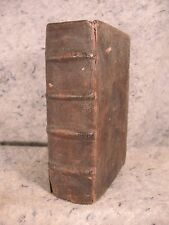 Rare antique  leather book over 400 years old ! 1587 Roberti Bel Latin