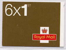 GB 2010 6 x 1st CLASS SELF ADHESIVE BOOKLET MB8a