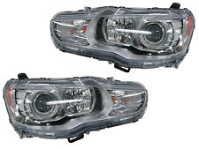 Mitsubishi Lancer Evolution 08-11 Projector Euro Chrome Halogen Headlights Lamps