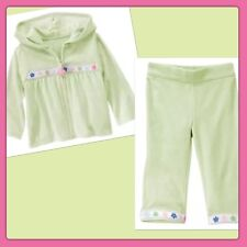 NWT 4T-5T Gymboree FAIRY WISHES Mint Green VELOUR Hoodie & Pants-(4T) 2pc Set
