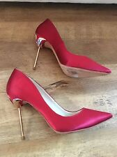 Sophia Webster coco flamingo Red And Gold Heels Pumps Size 39 UK 6