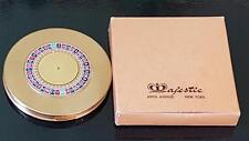 Vintage Majestic Roulette Wheel Compact w/Org. Box Collector's Novelty Book Item