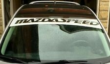 MAZDASPEED Decals Windshield Banners Sun Strip Sun Visor Stickers