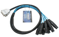 Elite Core 5' 25-pin D-Sub DB25 to 8 XLR Female 5ft Audio Cable Breakout Snake