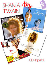"Shania Twain 4 CDs NEW +gifts ""Shania Twain"" ""Woman in Me"" ""Come On Over"" ""Up!"""