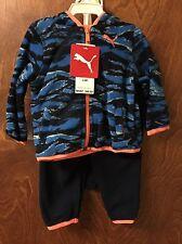 PUMA Boy's 3 Piece Micro Fleece Set Size 3-6 Month DEEP NAVY NWT