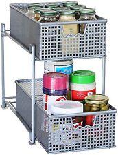 Storage Basket Organizer Sliding Drawer Kitchen Under Cabinet Shelf Holder Rack