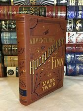 ADVENTURES HUCKLEBERRY FINN by MARK TWAIN Leatherbound & BRAND NEW!
