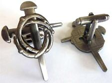 CHRISTIAN BIKER Cross Jesus Nails Harley Motorcycle Cufflinks Cuff Links Set
