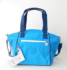 NWT Kipling Women's Amberley SA Top-Handle Bag With Plastic Monkey Mineral Blue