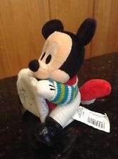 Disney Mickey Mouse Christmas sleigh sled plush pull string vibrates shaking
