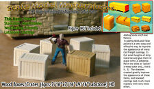 WOOD CRATES/BOXES (6pcs) Scale Model Masterpieces Yorke HO Fine Craftsman *NEW*