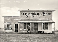 "1936 Photo Of old Saloon in North Dakota, 16""x11"" Vintage Country Store"