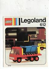 LEGO  612-1: Tipper truck    NOTICE/ INSTRUCTIONS BOOKLET / BAUANLEITUNG