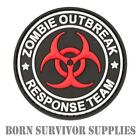 ZOMBIE OUTBREAK RESPONSE TEAM VELCRO PVC RUBBER PATCH - Airsoft Morale Badge