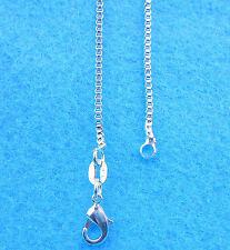 1PCS 16 inches Wholesale Jewelry 925 Sterling Silver Plated Box Chain Necklaces