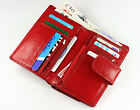 WOMENS NEW RED OR BLACK MAT GENUINE LEATHER WALLET PURSE MODEL 4610/6