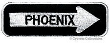 PHOENIX ONE-WAY SIGN EMBROIDERED IRON-ON PATCH applique ARIZONA SOUVENIR ROAD