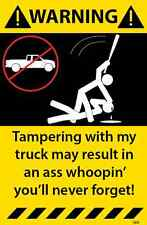 Truck Warning Sticker Funny Decal Mechanic tool box 64