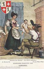 Appenzell Schweizer Trachten 1830 AK alt Schweiz Suisse Svizzera 1609245