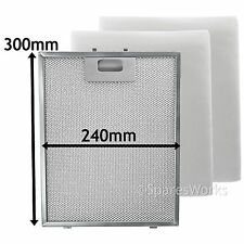 UNIVERSAL Cooker Hood Metal Mesh + Extractor Vent Fan Foam Filter 300 x 240 mm